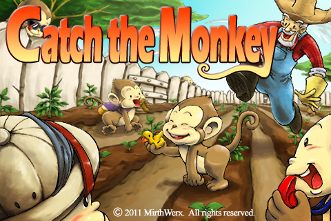 Catch the Monkey Title Screen iPhone game